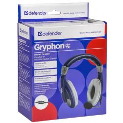 Słuchawki z mikrofonem DEFENDER GRYPHON 750 NIEBIESKIE 63748