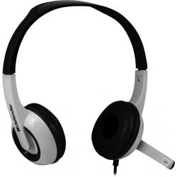 Słuchawki z mikrofonem DEFENDER Biało-szary 63055