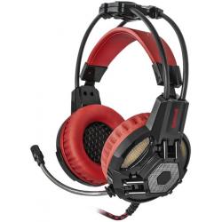 Słuchawki z mikrofonem REDRAGON LESTER LED Czarno-czerwone 64205